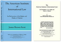 The American Institute of International Law: Its Declaration of the.
