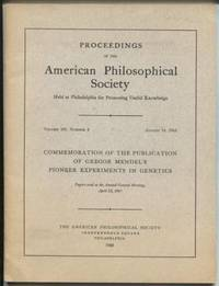 Proceedings of the American Philosophical Society.  Vol. 109, Number 4