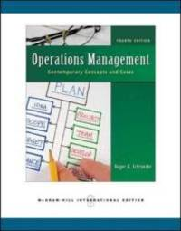 image of Operations Management: Contemporary Concepts and Cases
