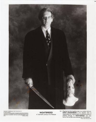 Los Angeles: Morgan Creek Productions, Inc, 1990. Vintage studio still photograph of David Cronenber...