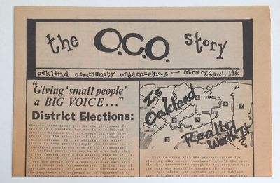 Oakland: OCO, 1980. 8p., tabloid format newspaper, horizontal fold, evenly toned, otherwise very goo...