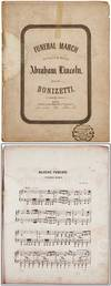[Sheet music score]: Funeral March performed at the funeral of Abraham Lincoln