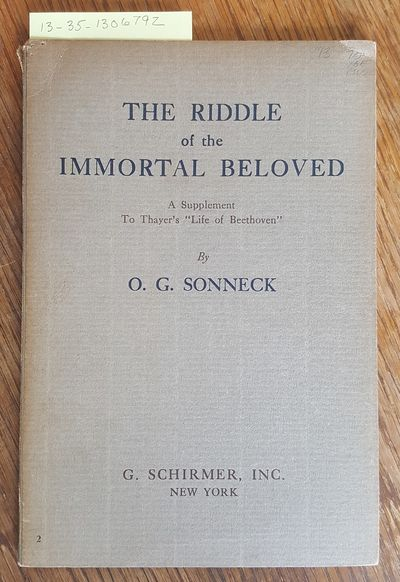 New York: G. Schirmer, 1927. Softcover. Octavo; G+; Paperback; Spine, grey without print; Cover is s...