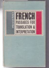 image of French Passages for Translation and Interpretation