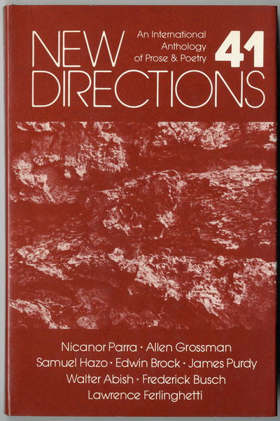 : New Directions, 1980. 186pp. Cloth. First edition, clothbound issue. Fine, in near fine dust jacke...