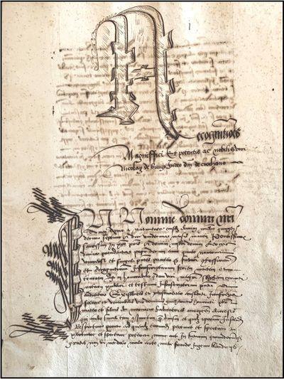 16TH CENTURY MANUSCRIPT DEPICTING...