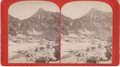 New York: E. & H.T. Anthony & Co, 1872. Stereoview. Albumen photograph on an orange 'Views of the Ro...