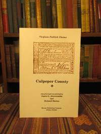 Virginia Publick Claims: Culpeper County