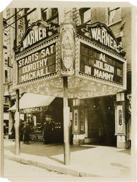 image of Archive of 14 original photographs of movie theater marquees, circa 1930s