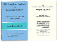The American Institute of International Law: Its Declaration..