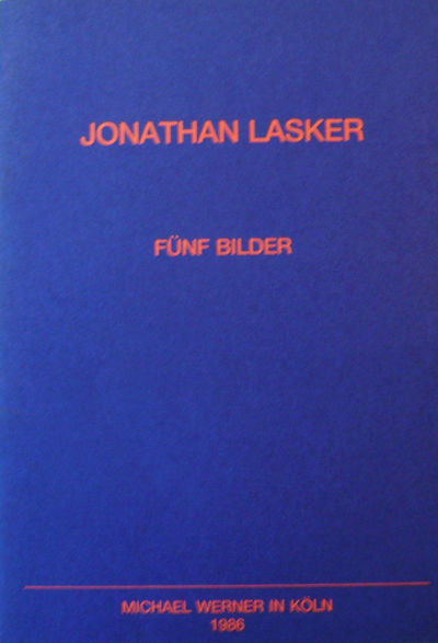 Koln: Michael Werner, 1986. First edition. Paperback. Fine. Paperbound quarto. Unpaginated. Text in ...