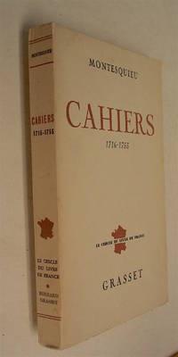 Cahiers 1716 - 1755