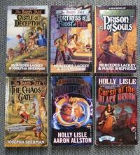image of THE BARD'S TALE.  VOLUMES 1-5 & 8.  1. CASTLE OF DECEPTION. 2. FORTRESS OF FROST AND FIRE. 3. PRISON OF SOULS. 4. THE CHAOS GATE. 5. THUNDER OF THE CAPTAINS. 8. CURSE OF THE BLACK HERON.  6 BOOKS IN TOTAL.