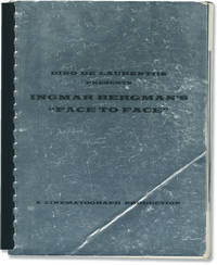 Ingmar Bergman's Face to Face (Original promotional book for the 1975 film) by  screenwriter); Arne Carlsson (photographer); Ernie Anderson (publicist); Dino De Laurentiis (producer)  Ingmar (director - First Edition - 1975 - from Royal Books, Inc. (SKU: 146505)