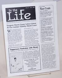 In the Life: newsletter of the June L. Mazer Lesbian Archives; #26, Fall 2001: Tongues shares queer Latina culture at event