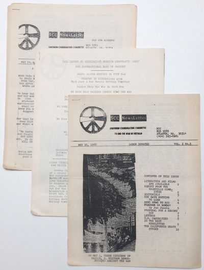 Atlanta: SCC, 1966. Three issues of the 8.5x11 inch, mimeographed newsletter; some handling wear and...