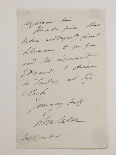 unbound. very good. A.L.S. 8vo. 1 page, no place, no date, paper with partial watermark c. 1810-1830...