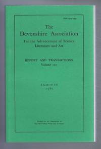 THE DEVONSHIRE ASSOCIATION: Report and Transactions 1980, Volume 112, Exmouth