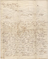 Letter from a Scottish lawyer requesting information from a ship captain in Baltimore about an ill-fated Indian Ocean voyage aboard the Semaramis that included accusations of drunkenness, incompetence, theft, and mutiny