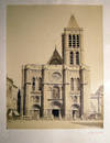 View Image 1 of 5 for Circa 1870 Large Format Photograph of the Basilica St.-Denis Paris France By Achille Quinet Inventory #25409