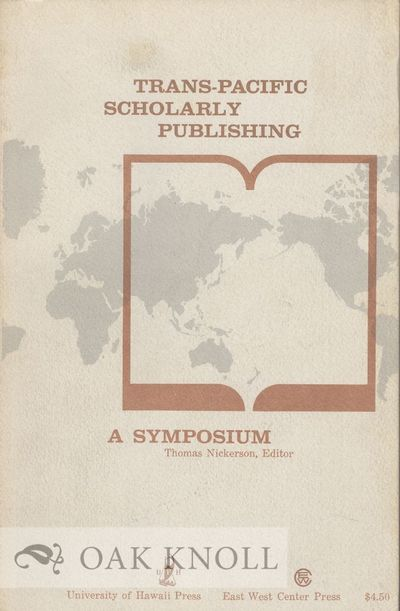 Hawaii: University of Hawaii Press, 1963. stiff paper wrappers. 8vo. stiff paper wrappers. xiii, 274...