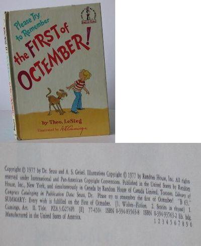 Westminster, Maryland, U.S.A.: Random House Childrens Books, 1977. 1st Edition. Hardcover. Fine/No J...