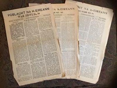 n.d.: n.d.. 1922. First Printing. Broadside. Three daily issues of the Anti-Treaty Republic of Irela...