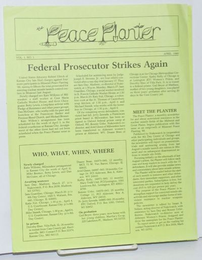 Madison, WI: Nukewatch, 1989. Four issues of the single-sheet newsletter