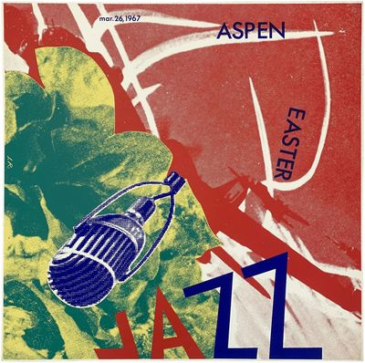 Aspen: Aspen Jazz Festival, 1967. Faint soiling, touch of wear to extremities, two 1/4 closed tears;...