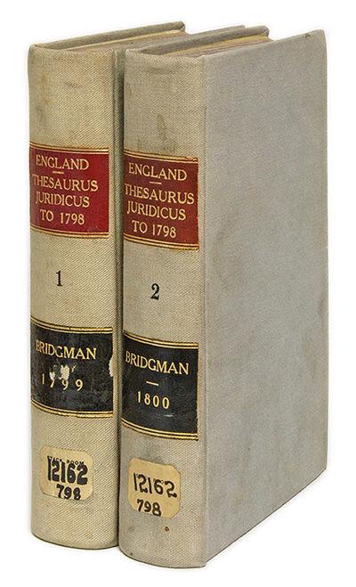 1799. 2 vols. London, 1799-1800. 2 vols. London, 1799-1800. A Scarce Eighteenth-Century Digest Bridg...
