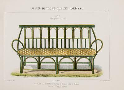 Paris: Au Bureau Du Journal Le garde-Meuble, 1859. Small oblong 4to, publisher's red cloth rebacked ...