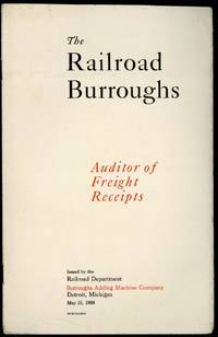 The railroad Burroughs. Auditor of freight receipts