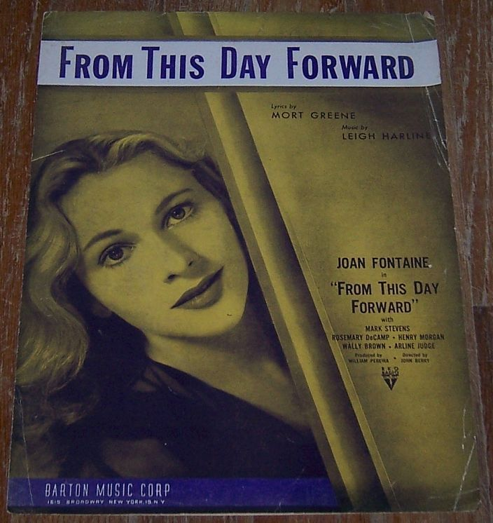 FROM THIS DAY FORWARD, Sheet Music