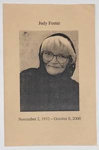 image of Judy Foster. November 2, 1932 - October 8, 2000
