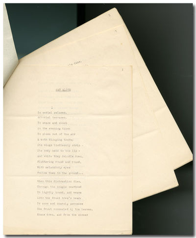 ,12, leaves. Quarto. Original typescript, with a handful of small corrections in ink, and with the s...