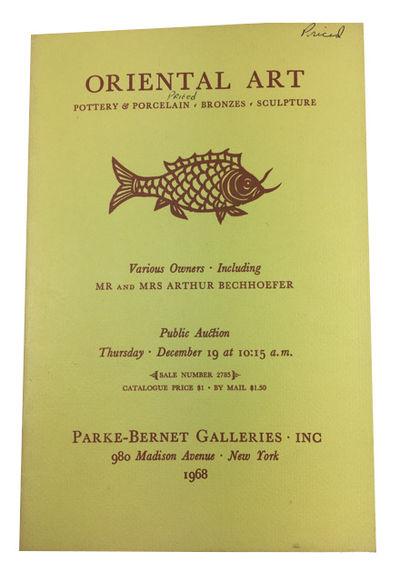 New York: Parke-Bernet Galleries, Inc, 1968. Paperback. Very Good. illustrations (black & white), 35...