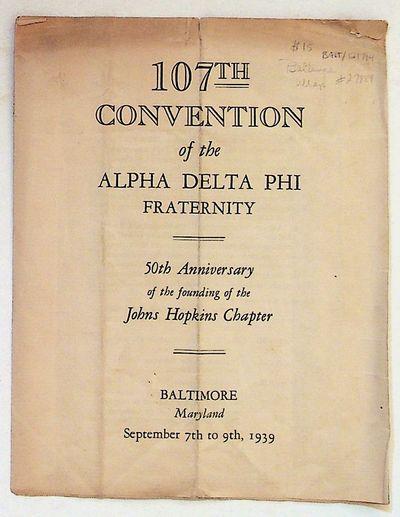 Baltimore: Johns Hopkins University, 1939. Paperback. Very Good. Paperback. Off-white trifold pamphl...