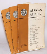 African affairs Journal of the Royal African Society, vol. 66 nos. 263-265,  April-October 1967