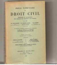 Precis elementaire de droit civil t2