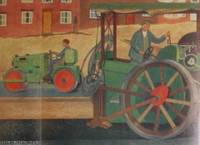 A.H. Hall. Artist. Road Making. 1955. A full colour original poster