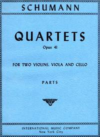 [String] Quartets, Op.41 - #1 in A Minor; #2 in F Major; #3 in A Major [SET of FOUR PARTS]