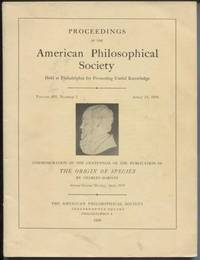 Proceedings of the American Philosophical Society. (Commemoration of The  Origin of Species)