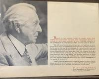Frank Lloyd Wright From and address to the people of Marin County, July 1957