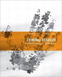 Criminal Behavior: A Psychological Approach (10th Edition) by Curt R. Bartol - Hardcover - 2012-12-31 - from Books Express and Biblio.com