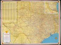 Shell Road Map Texas and Mexico.