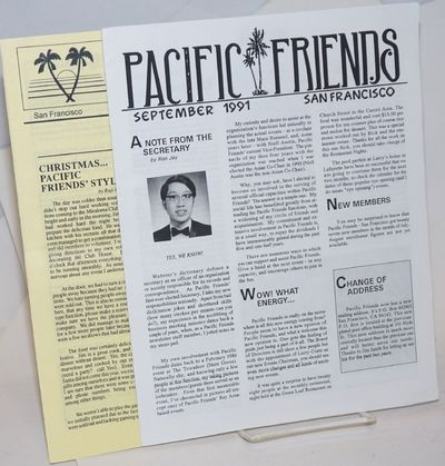 San Francisco: Pacific Friends SF, 1994. Two issues, 8p. each, 8.5x11 inches, news, articles, servic...