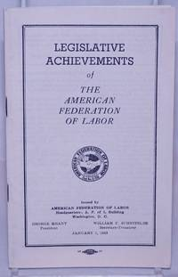 image of Legislative Achievements of The American Federation of Labor