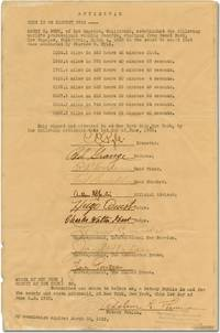Affidavit of records set by Harry R. Gunn during The Great American Foot Race in 1928