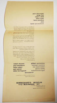 image of Borregaard's Museum Advertising Flyer (Mailed to Philip Whalen)
