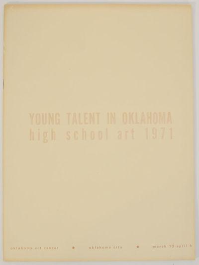 Oklahoma City, OK: Oklahoma Art Center, 1971. First edition. Softcover. Exhibition catalog for a gro...